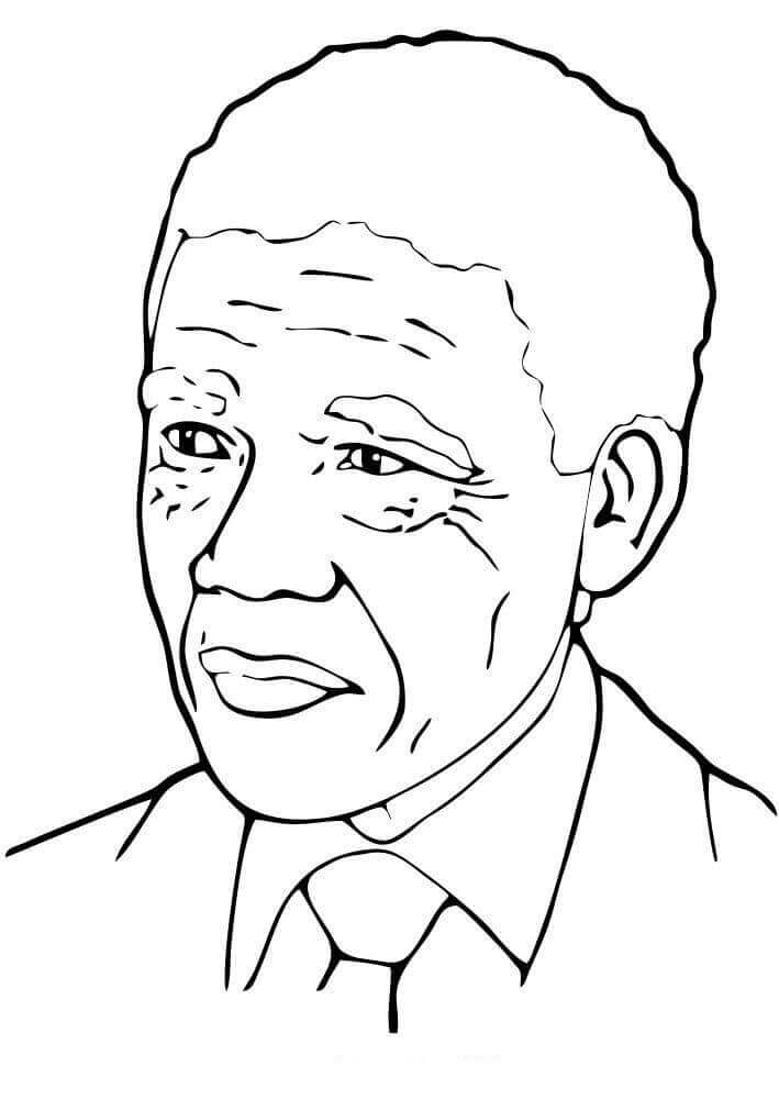 Nelson Mandela Day Coloring Page