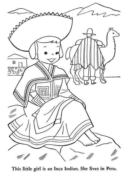 Peru Independence Day Coloring Pages