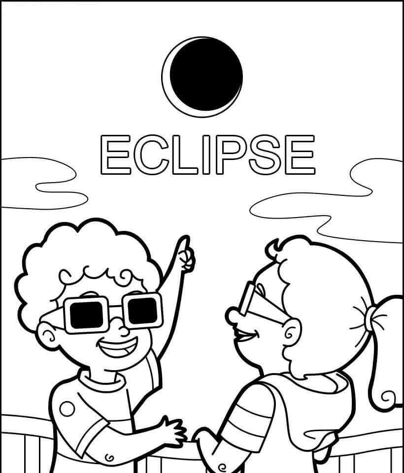 Free Printable Eclipse Coloring Pages