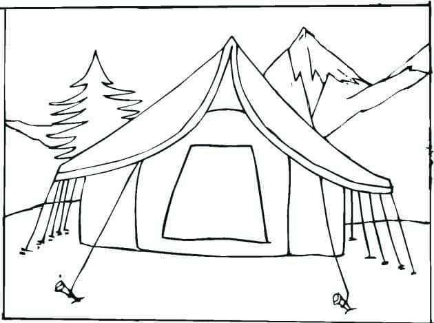 Tent Coloring Pages