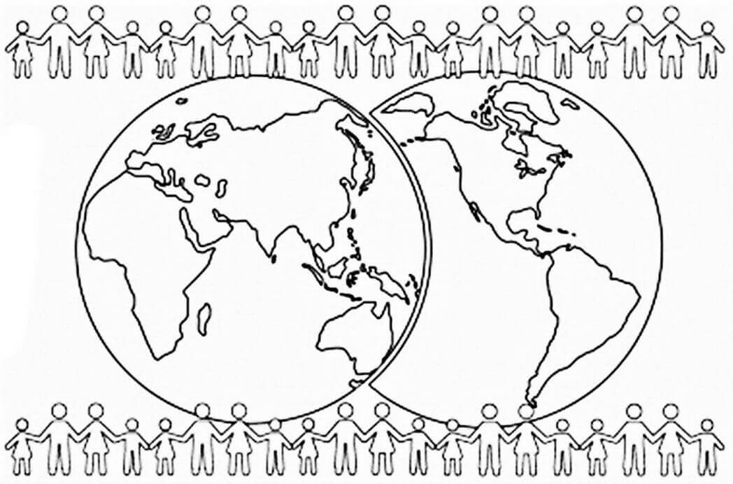 World Population Coloring Pages