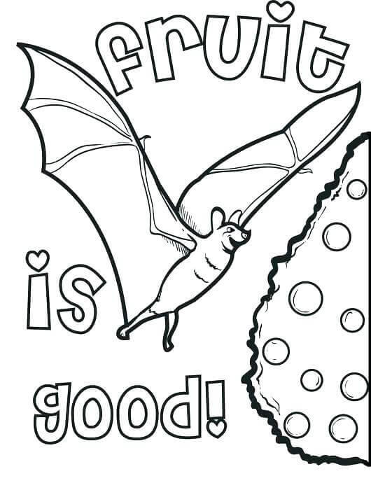 Bat Coloring Images Printable