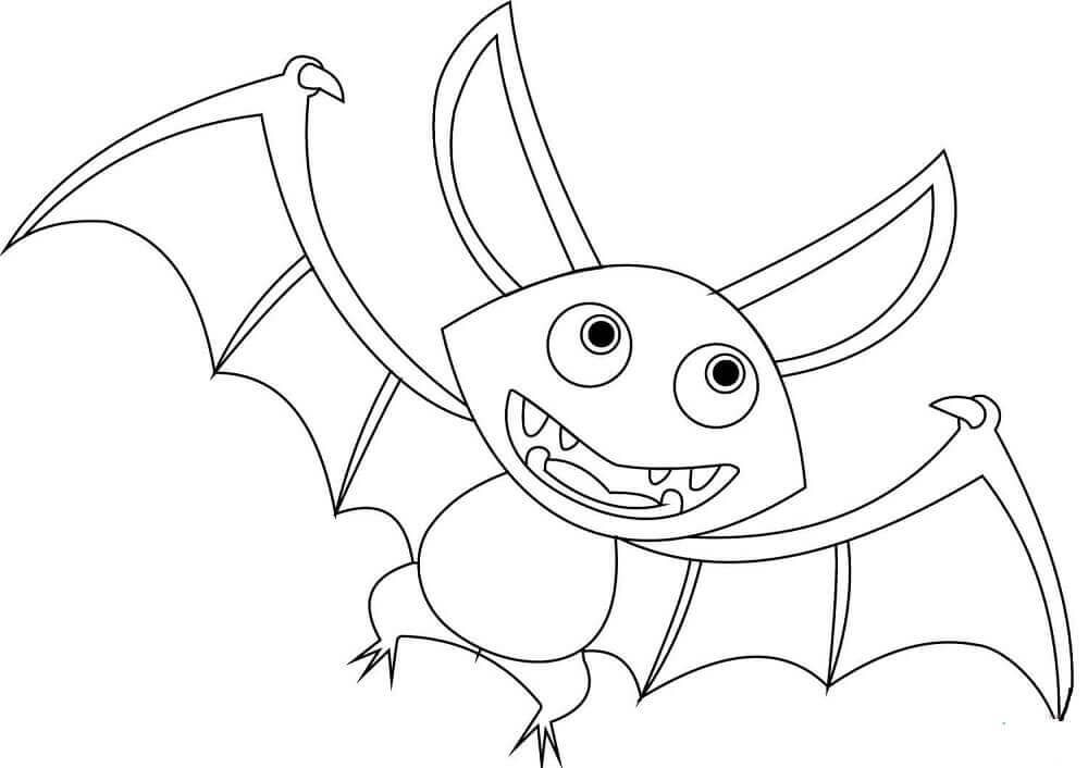Bat Coloring Pages For Preschoolers
