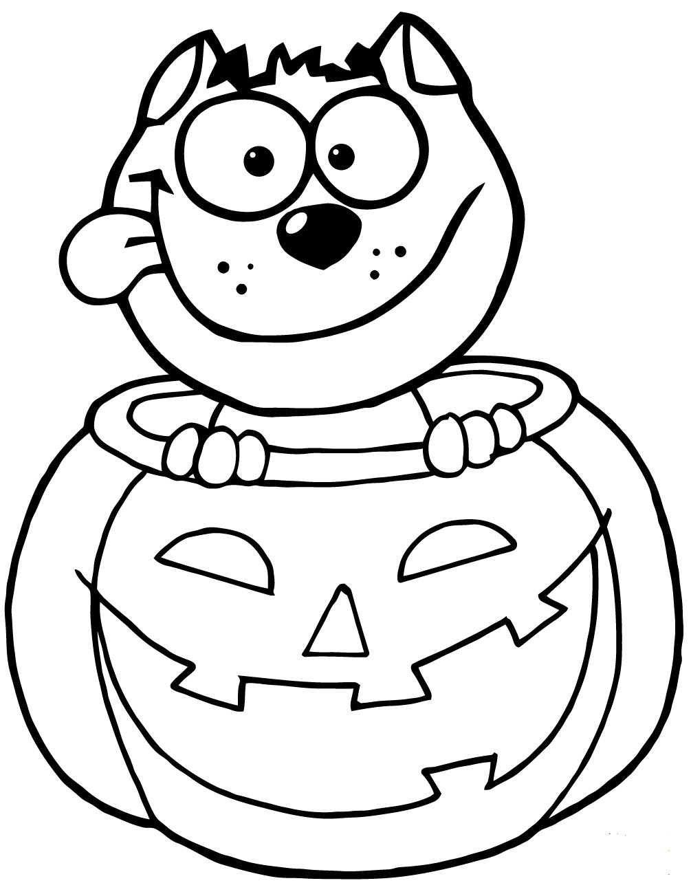 inside of a pumpkin coloring pages | 30 Free Printable Pumpkin Coloring Pages