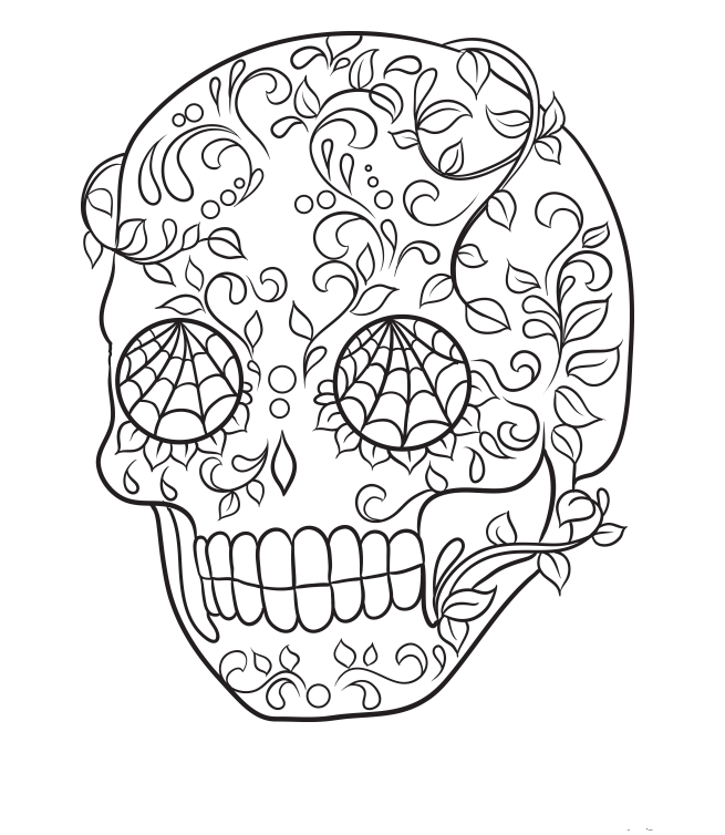 Coloring Pages Of Sugar Skulls