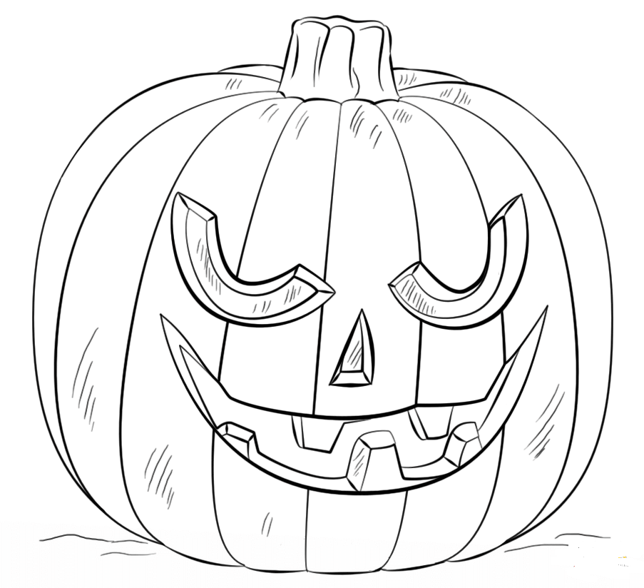 Creepy Jack O Lantern Coloring Sheet