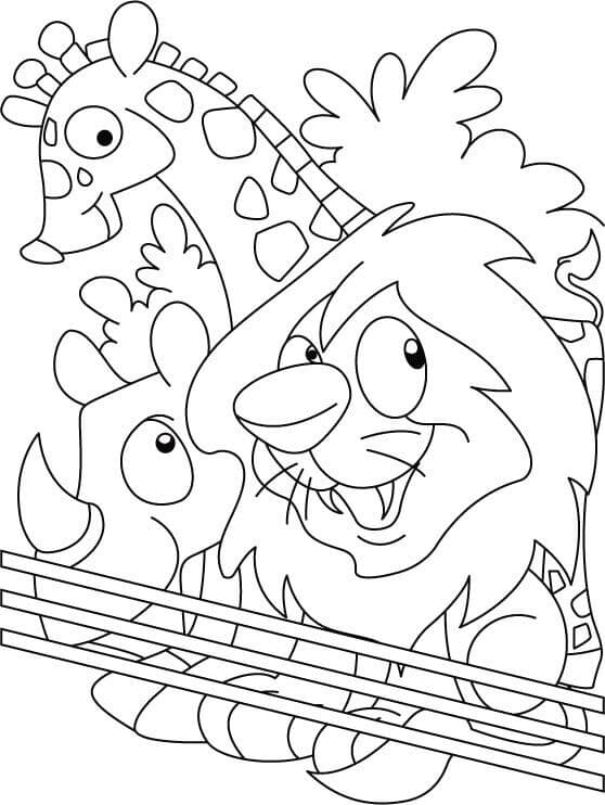 Easy Zoo Coloring Pages