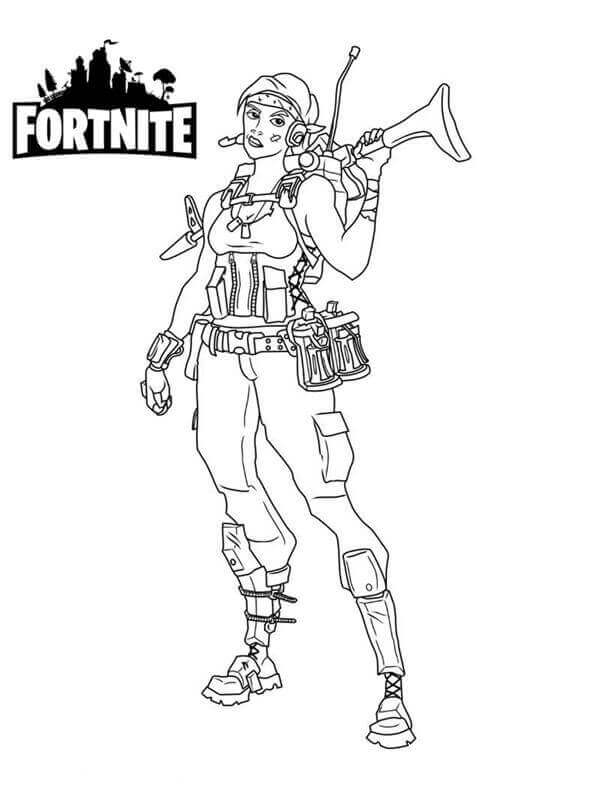 Fortnite Coloring Black And White Printable