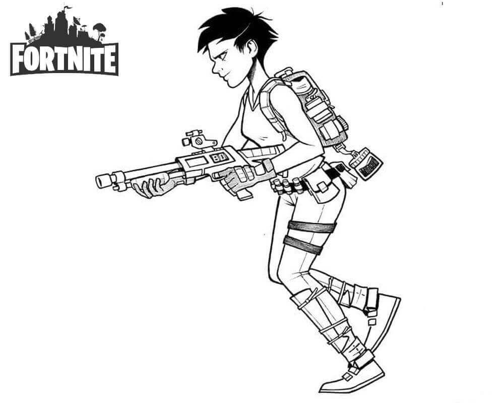 Fortnite Coloring Pages Inktober