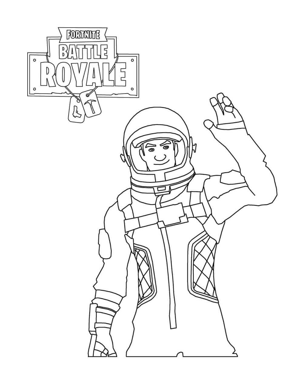 Fortnite Coloring Pictures Astronaut