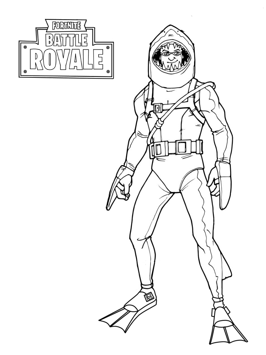 Fortnite Skins Coloring Pages