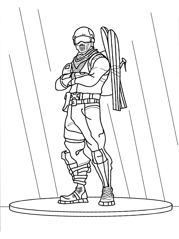 Free Fortnite Game Coloring Pages