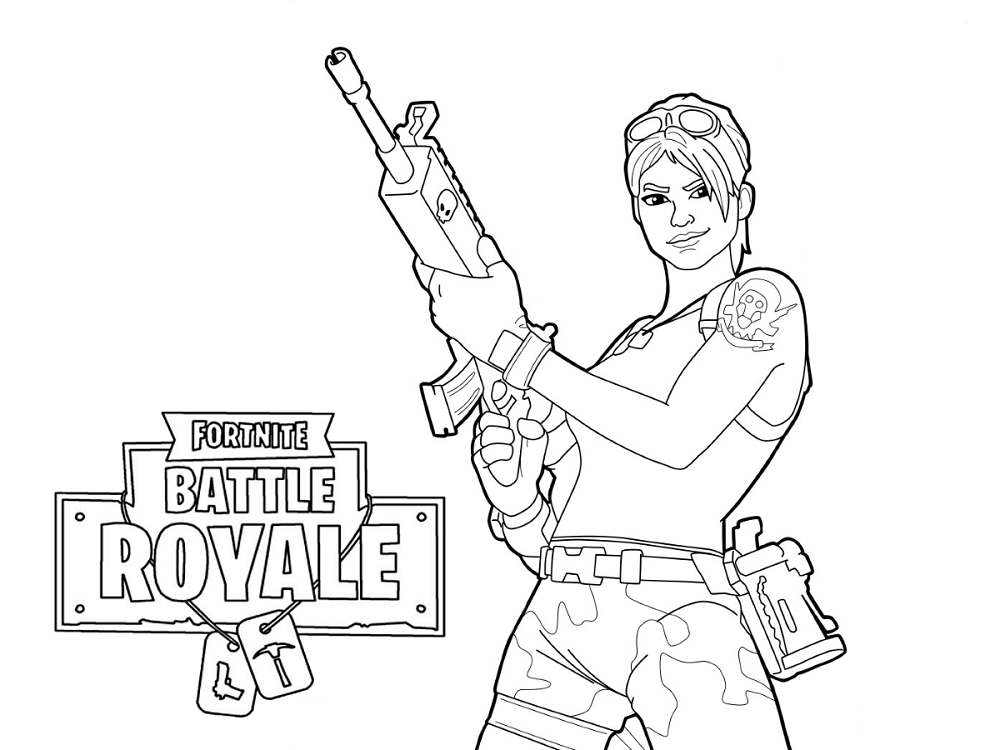 Free Printable Fortnite Coloring Pages Master Grenadier
