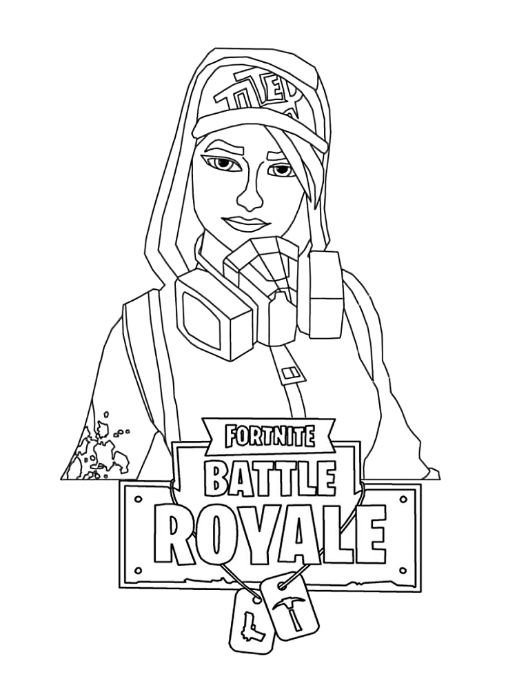Free Printable Fortnite Female Characters Coloring Pages