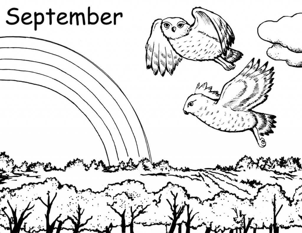 Free Printable September Coloring Pages