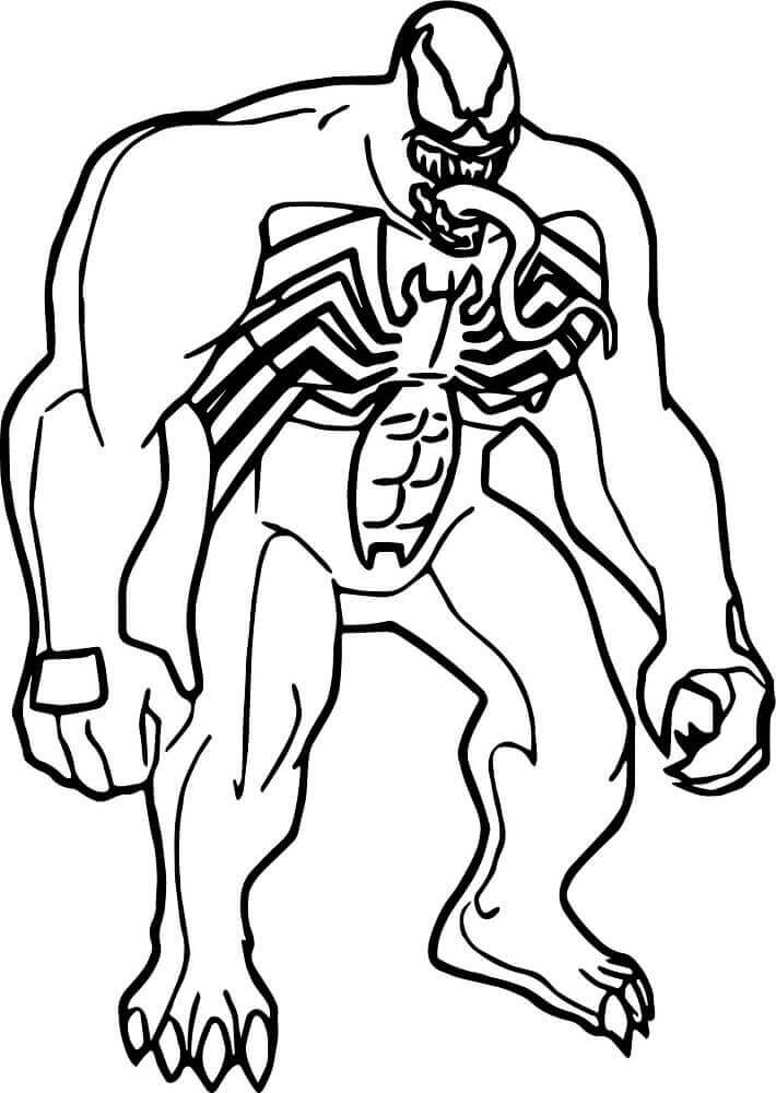 15 Free Printable Venom Coloring