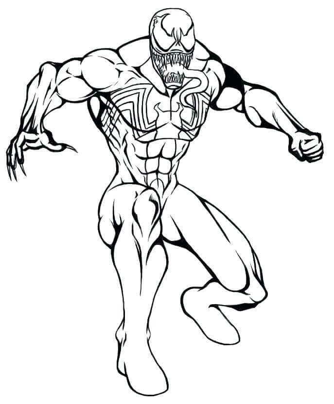 Free Printable Venom Coloring Page