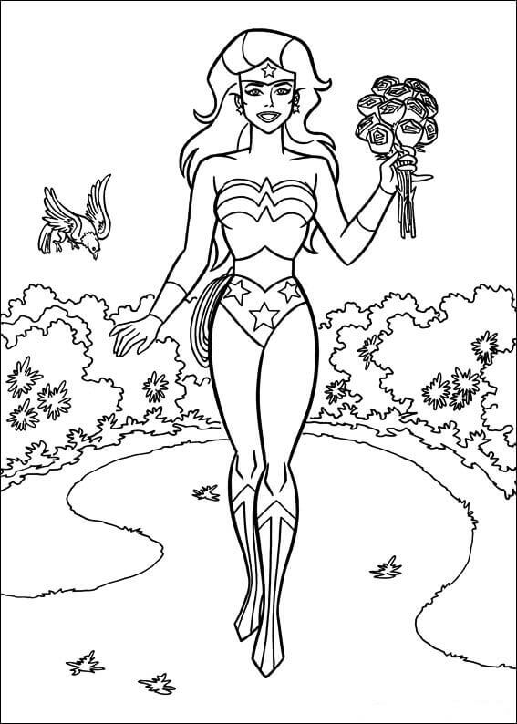 Free Printable Wonder Woman Coloring Images