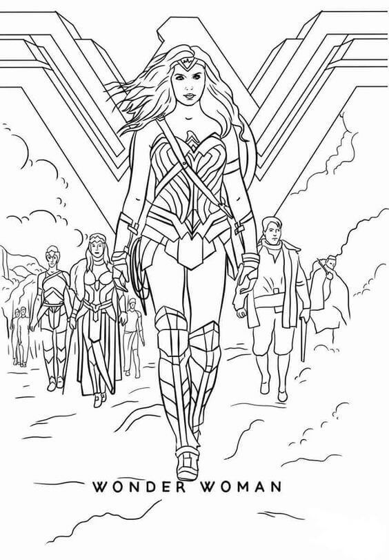 Free Printable Wonder Woman Movie Coloring Pages