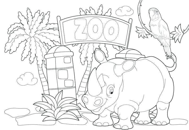 Free Printable Zoo Colouring Pages