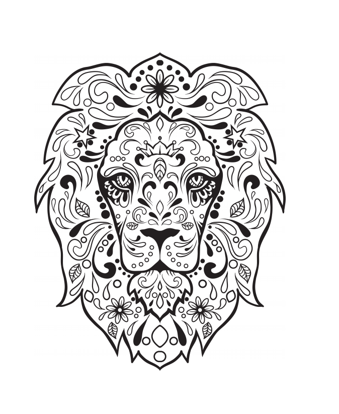 Free Prntable Sugar Skull Colouring Pages