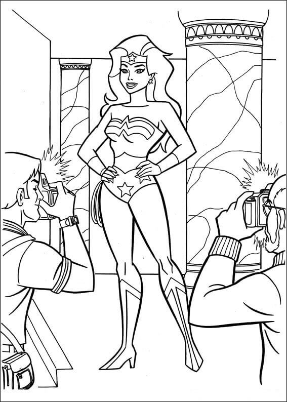 Free Wonder Woman Colouring Pages