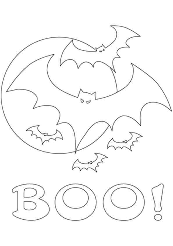 Halloween Bat Coloring Pictures