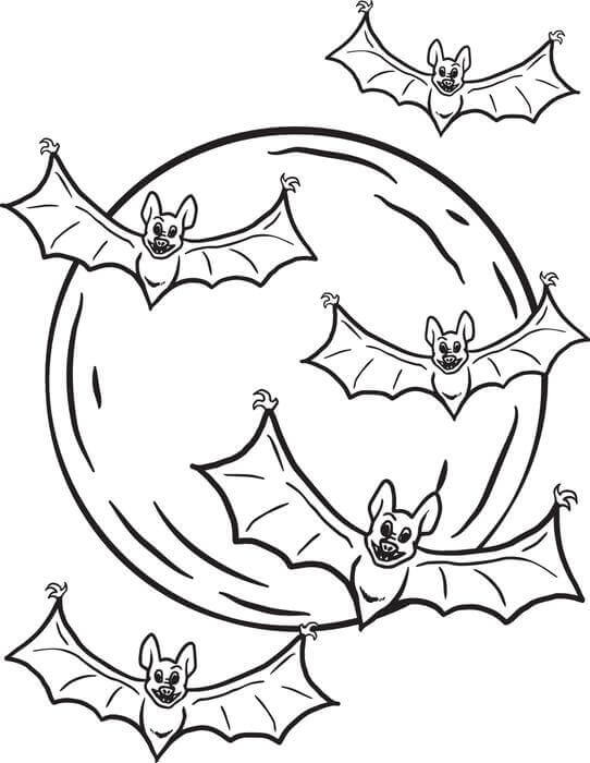 Halloween Bat Coloring Sheets Printable