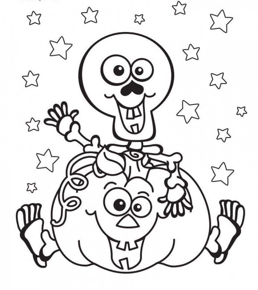 Halloween Pumpkin Coloring Pictures To Print