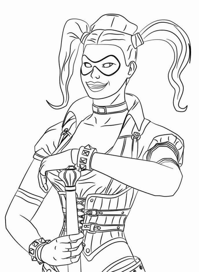 Harley Quinn Coloring Page