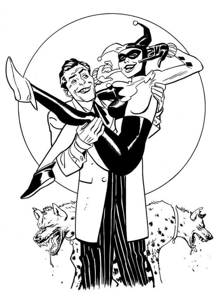 Harley Quinn Coloring Pages For Adults