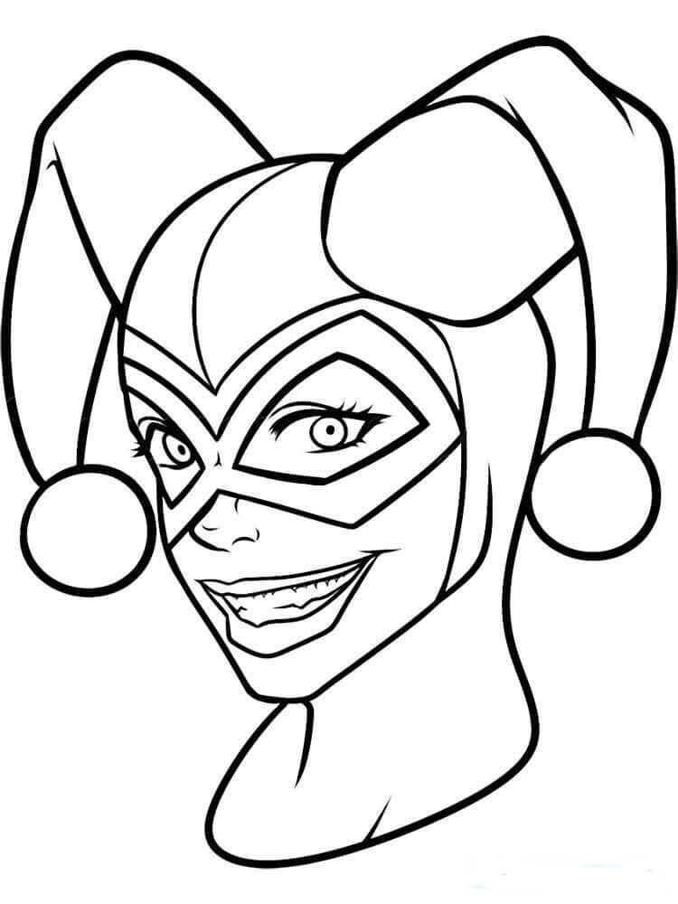 Harley Quinn Coloring Pages PDF