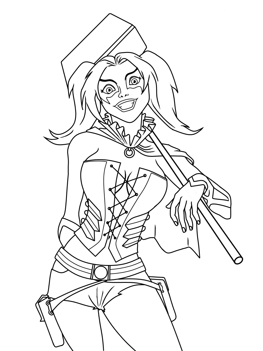 harley quinn coloring pages - photo#3