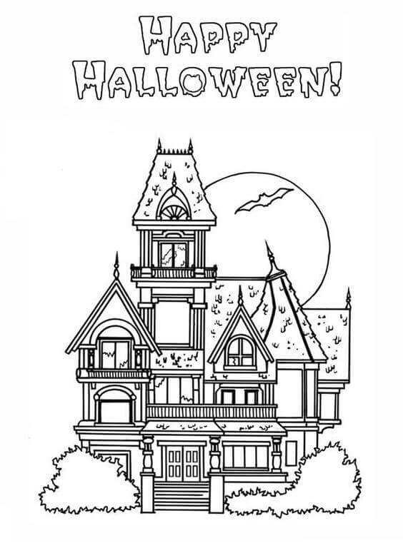 Haunted House Coloring Images