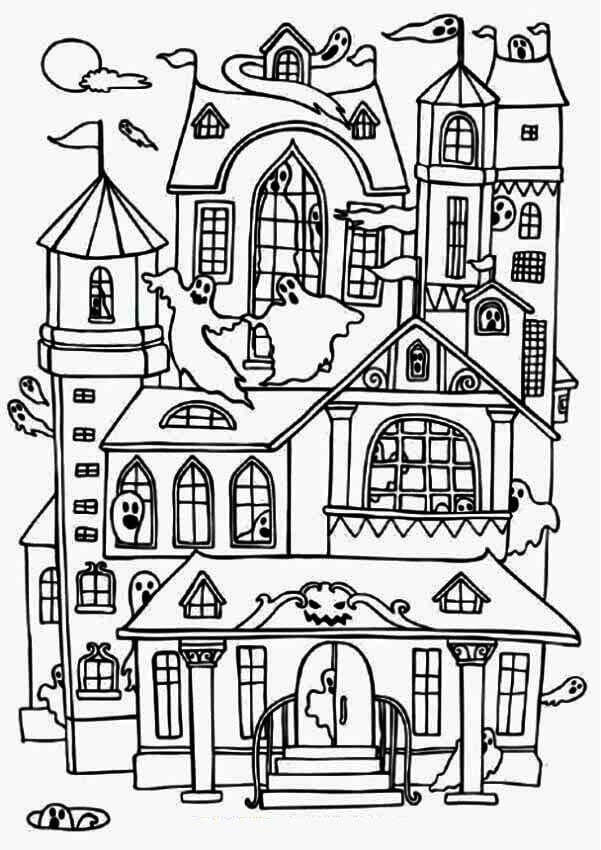 25 Free Printable Haunted House Coloring Pages For Kids