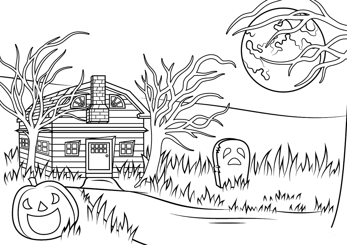 Haunted House Coloring Pictures