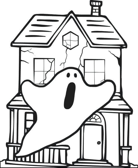 Haunted House Coloring Sheets To Print