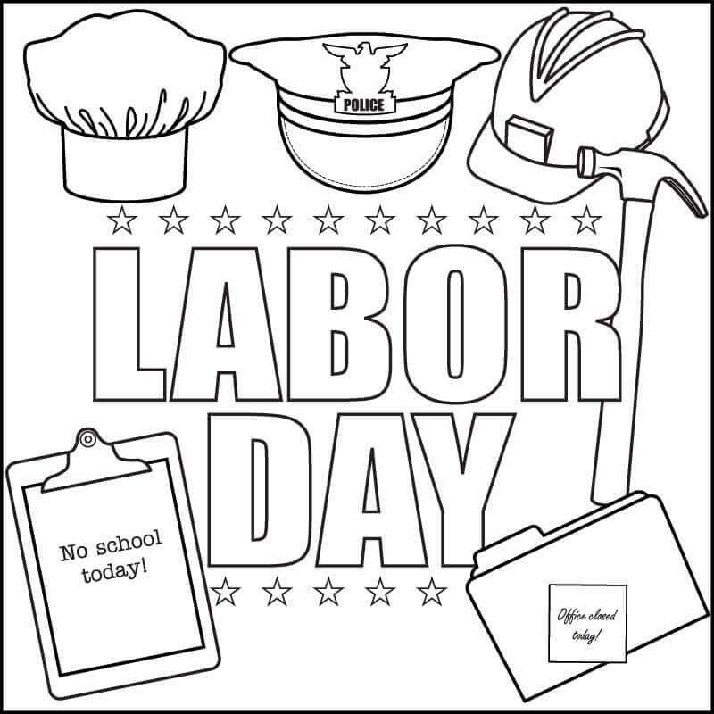 Labor Day September Coloring Pages