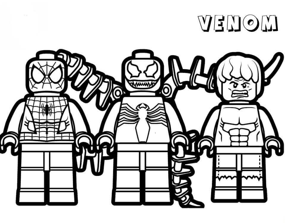 Lego Venom Coloring Pages