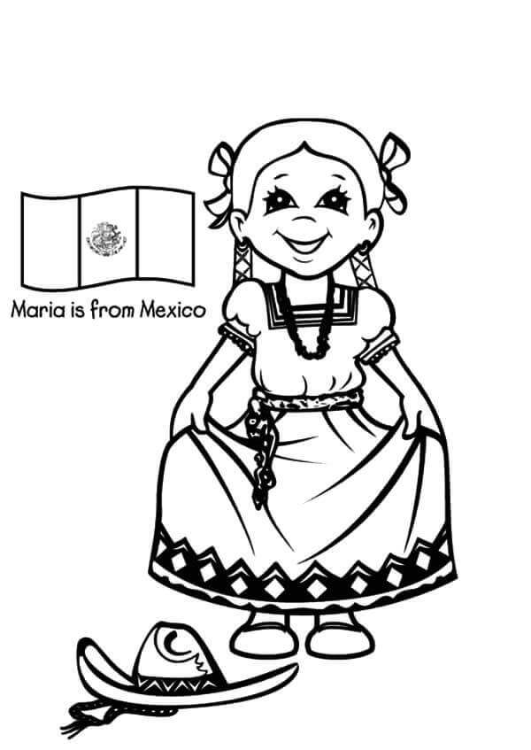 Mexico Independence Day Coloring Pages