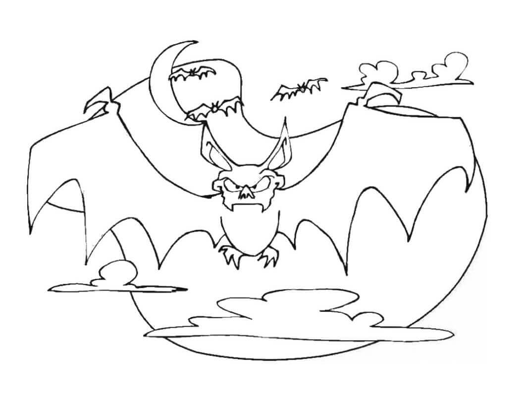 Scary Bat Coloring Pages