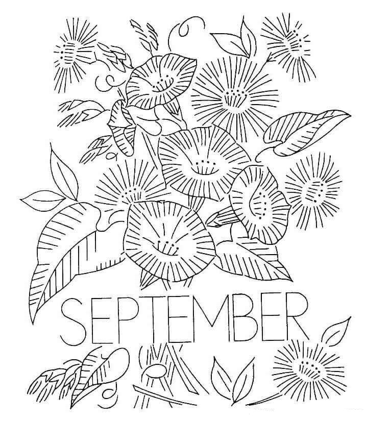 september printable coloring pages - photo#21