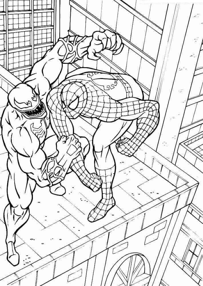 Childrens coloring pages spiderman and venom ~ 15 Free Printable Venom Coloring Pages