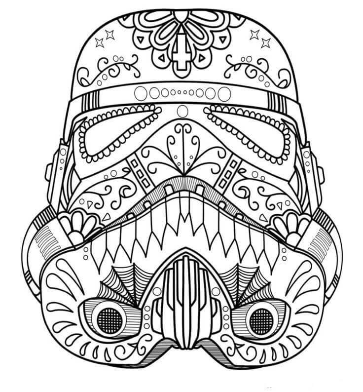Star Wars Sugar Skull Coloring Pages