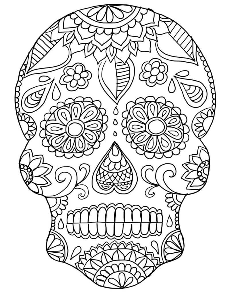 Skull Mask coloring page | Free Printable Coloring Pages | 1024x791