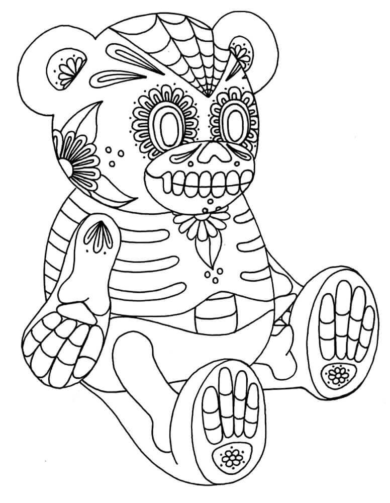 Sugar Skull Coloring Pages For Kids