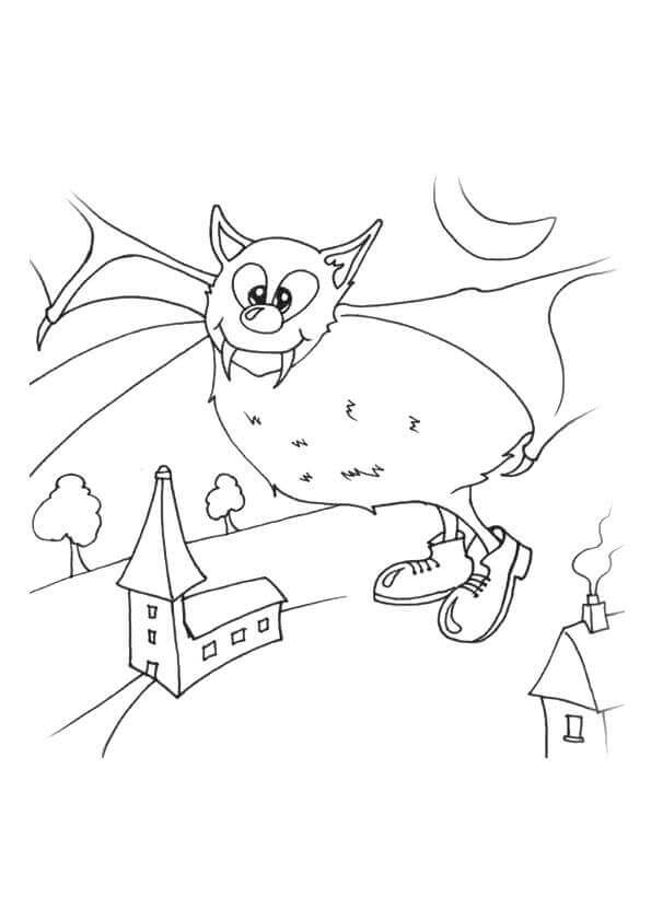 Vampire Bat Coloring Pages