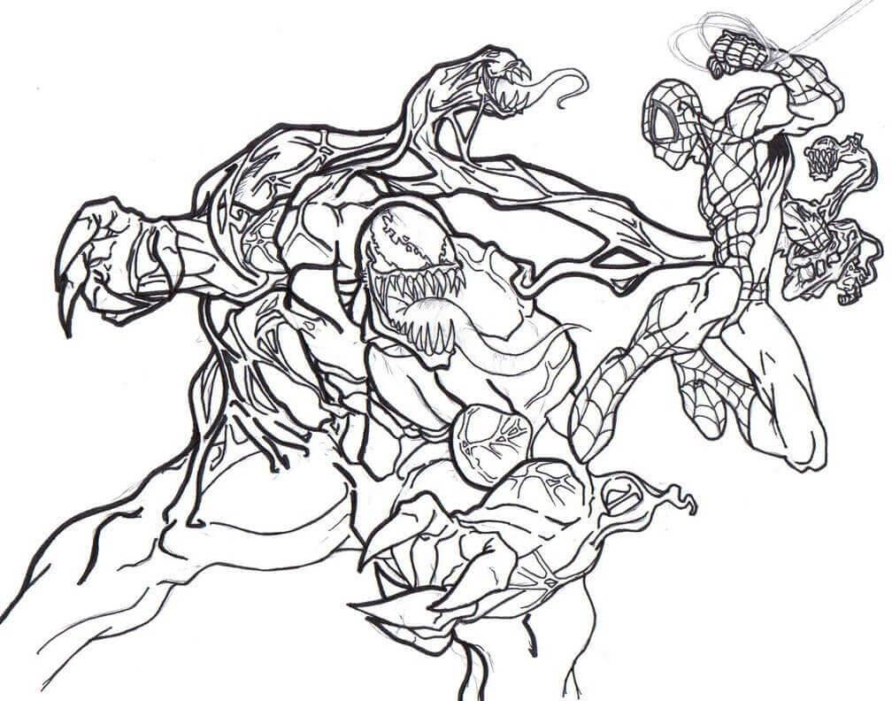 Venom Coloring Images