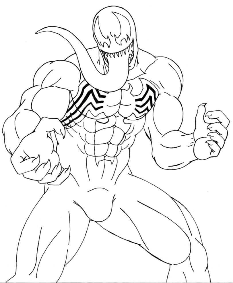 Venom Coloring Pages Free Printable