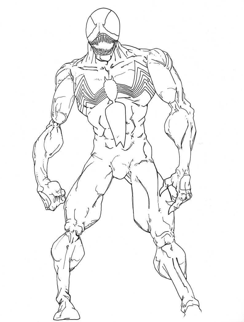 Venom Coloring Sheets